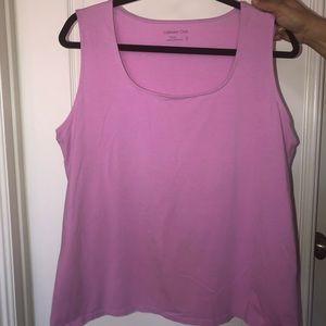 Lilac tank top/ sleeveless blouse